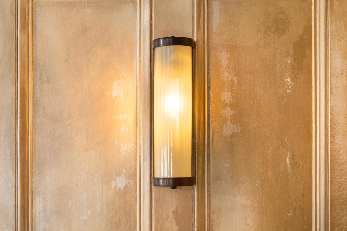 The Bedford, London Reeded Glass Wall Light
