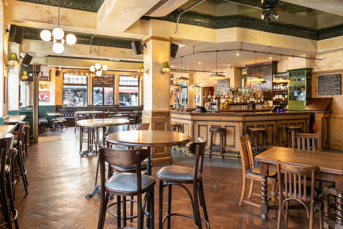 The Bedford, London Rustic Bar Pendants