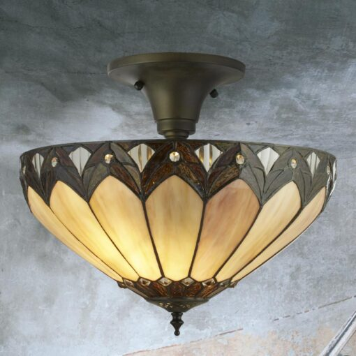 Tiffany Glass Dome Flush