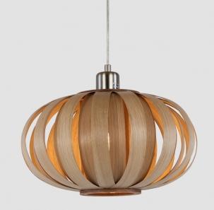 Wood Tom Raff Ash circle pendant