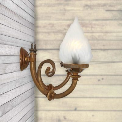 Traditional Brass Wall Lights,Decorative Glass Lampshade
