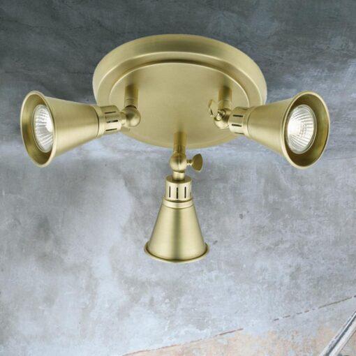 Traditional Brass 3 Light Spotlight Plate
