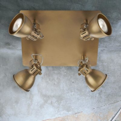 Traditional Brass 4 Light Spotlight Plate