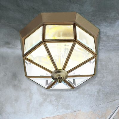 Traditional Geometric Flush Light