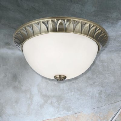 Traditional Opal Glass Flush Light