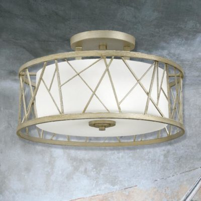 Traditional Round Cage Semi Flush
