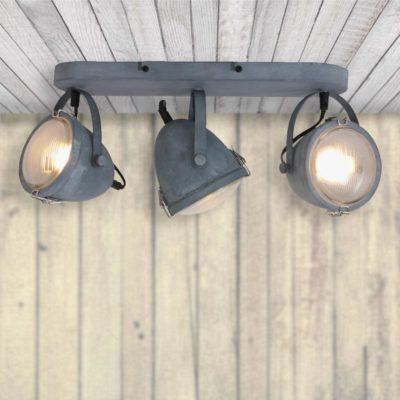 Triple Industrial Grey Spotlight