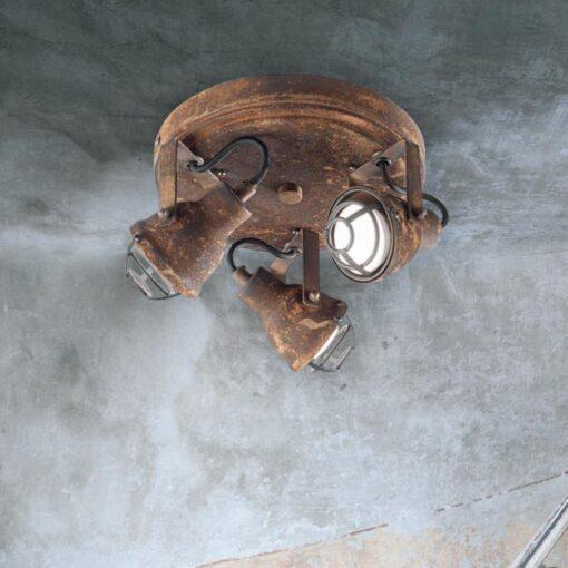 Triple Rustic Cage Spotlight