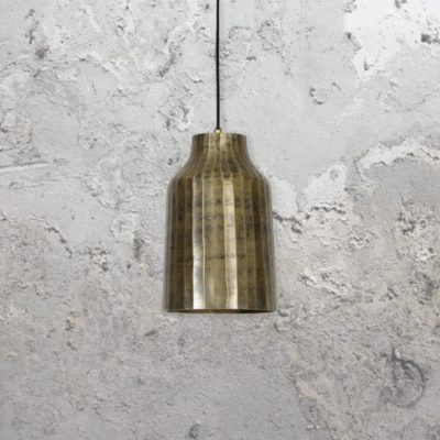 Tube Gold Weathered Pendant Light