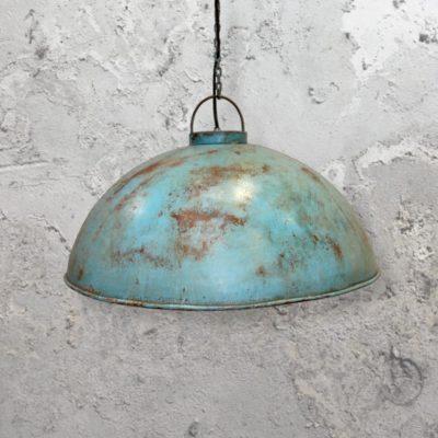 Turquoise Rust Pendant Light