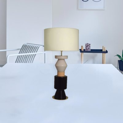 Two Colour Glass Table Lamp