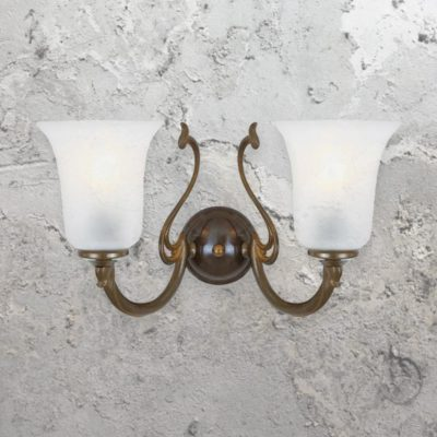 traditional two light antique brass wall sconce fitting,traditional 2 light brass wall light fitting