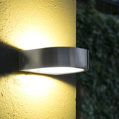 modern LED stainless steel up down outdoor wall light