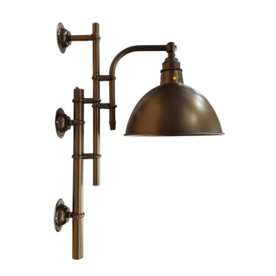 Vintage Antique Brass Steampunk Wall Light