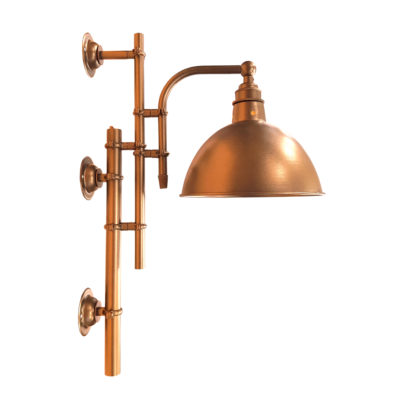Vintage Antique Copper Steampunk Wall Light