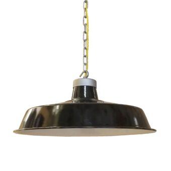 Vintage Black Enamel Pendant Light