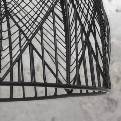 Vintage Black Wire Pendant Light