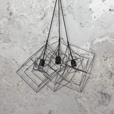 Vintage Cage Cluster Pendants
