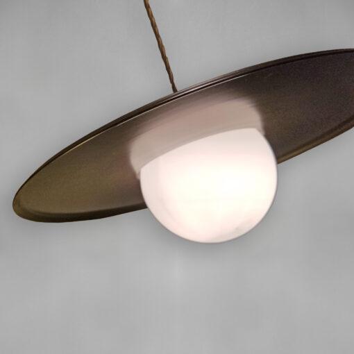 Vintage Globe Dish Pendant Light