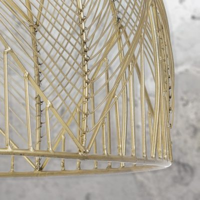 Vintage Gold Wire Pendant Light