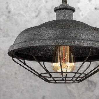 Vintage Grey Cage Pendant Light