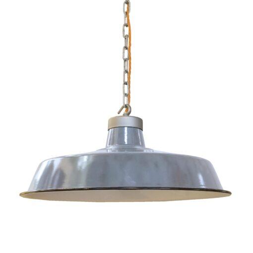 Vintage Grey Enamel Pendant Light