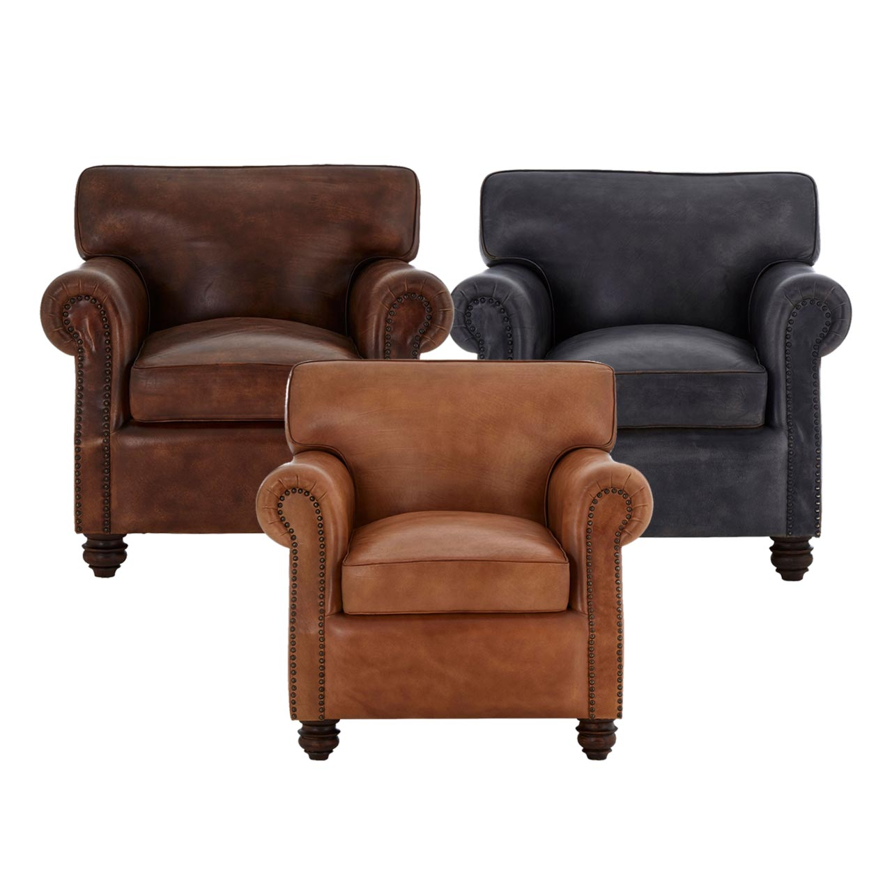 Vintage Leather Armchair Cl 40156 E2 Contract Lighting Uk
