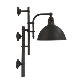 Vintage Matt Black Steampunk Wall Light