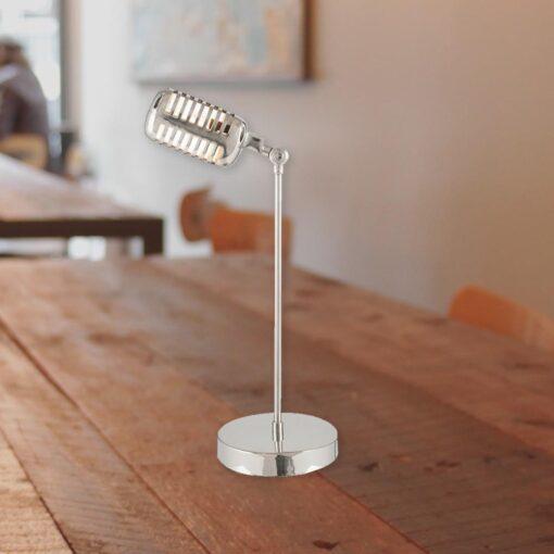 Vintage Microphone Table Lamp