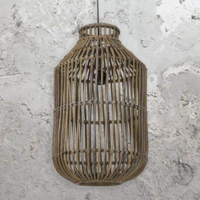 Vintage Rattan Cage Pendant Light
