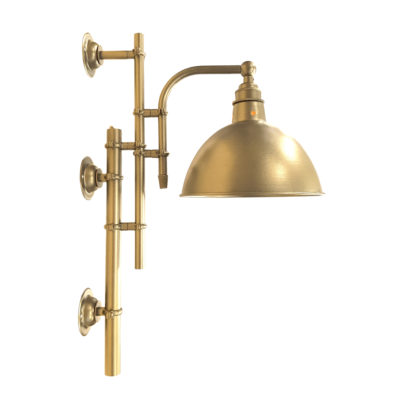 Vintage Satin Brass Steampunk Wall Light