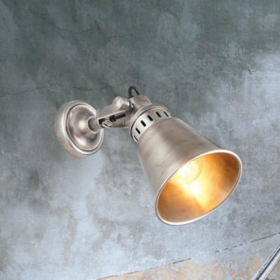 Industrial Silver Wall Light,Adjustable Silver Wall Light,Vintage Silver Wall Light