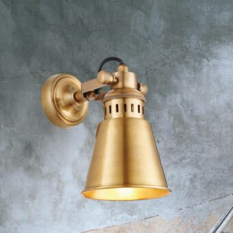 Solid Antique Brass Wall Light