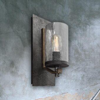 Wavy Glass Wall Light
