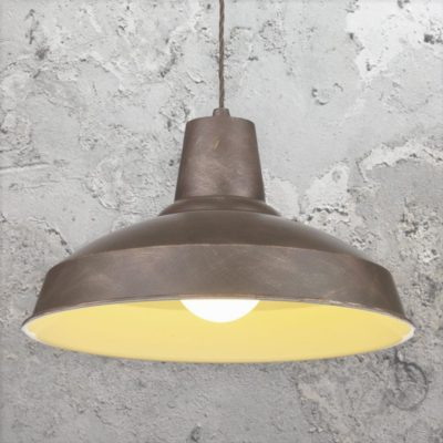 Weathered Bronze Industrial Pendant Light