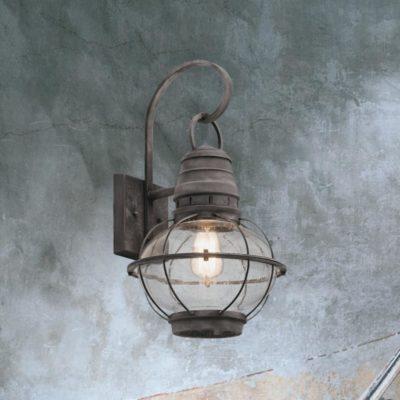 Weathered Zinc Outdoor Wall Light
