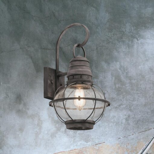 Weathered Zinc Outdoor Wall Light