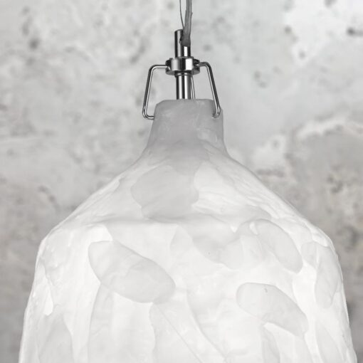 White Acrylic Glacier Pendant Light