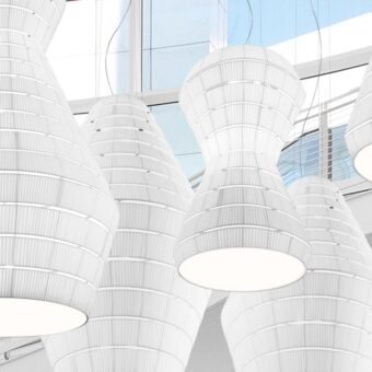 Commercial LED Fabric Pendant Light
