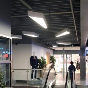 White Commercial LED Geometric Pendant Light