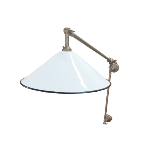 White Coolie Enamel Wall Light