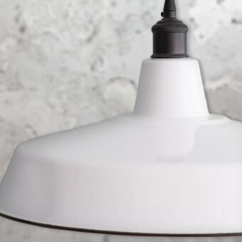 White Enamel Pendant Light