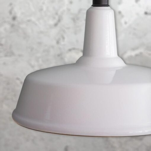 White Enamel Pendant Light