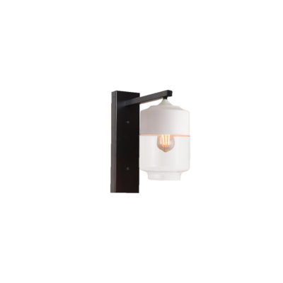 White Glass Shade Wall Light