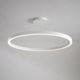 White LED Suspended Ring Pendant