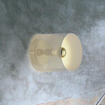 White Mesh Wall Light