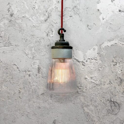 Porcelain Prismatic Glass Pendant Light