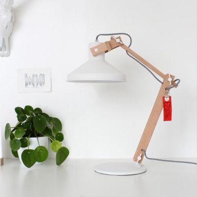 White Scandinavian Table Lamp