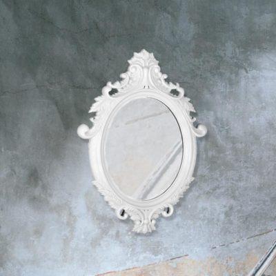 traditional decorative white Venetian mirror