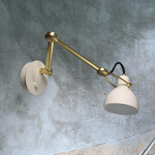 White and Gold Wall Light